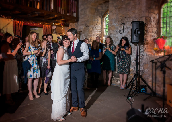 Bride and Groom first dance at Crook Hall and Gardens, Newcastle Wedding Photography